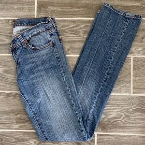 7 for all mankind Bootcut light wash denim jeans
